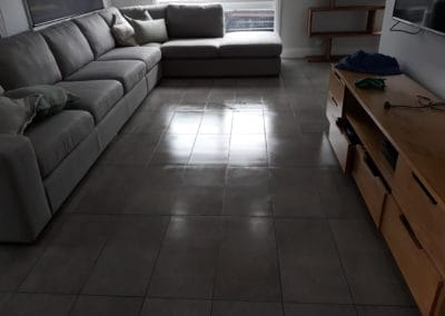 Indoor cleaning - brown tiles after pic 1.