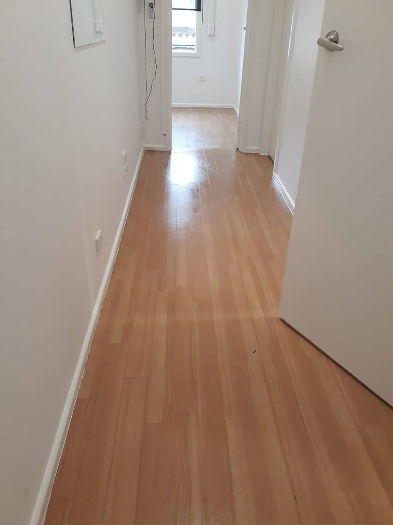 Indoor cleaning - light timber floor boards after