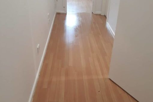 Indoor cleaning - light timber floor boards after pic 1