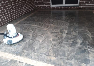 Outdoor cleaning - progress tile cleaning pic 2