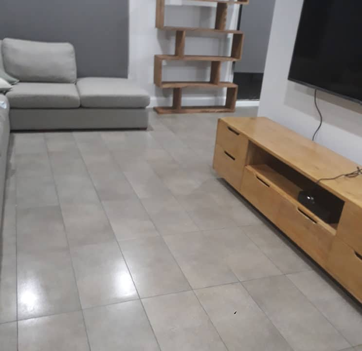 Indoor cleaning - light grey tiles