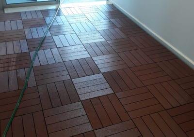 indoor cleaning wooden dark tiles